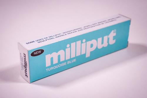 Milliput Turquoise Epoxy Putter