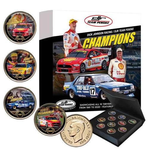 DJR Team Penske Enamel Penny Set - 10 Coin Collection