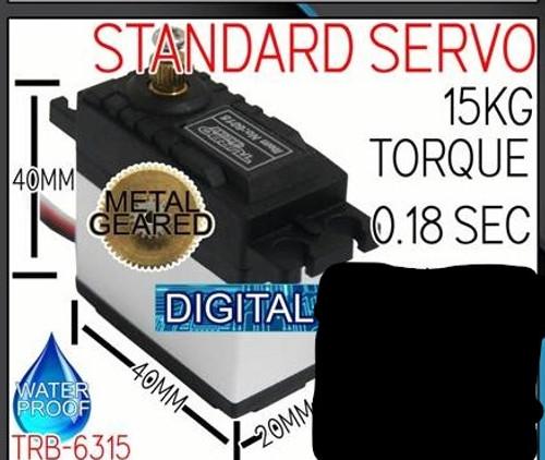 Turbo Racing Servo 15kg WP 0.18sec Metal Gear