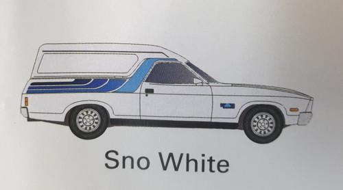 Ford XC Sundowner Sno White
