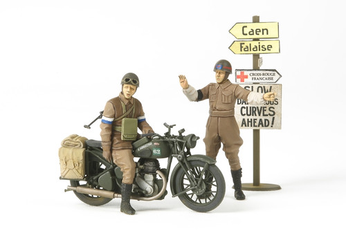 British BSA M20 Motorcycle W/MIlitary Police Set