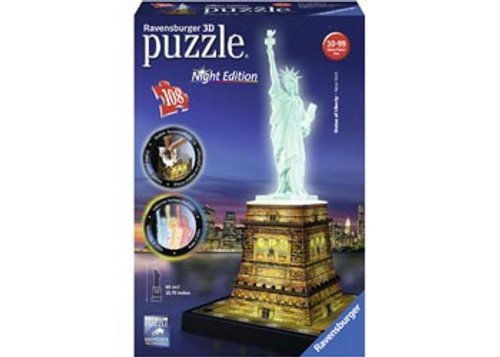 Statue of Liberty at Night 3D Puzzle