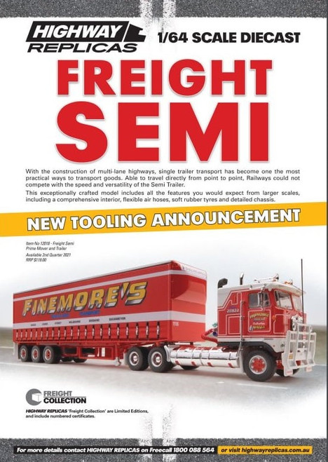 Finemore's Freight Semi Prime Mover & Trailer