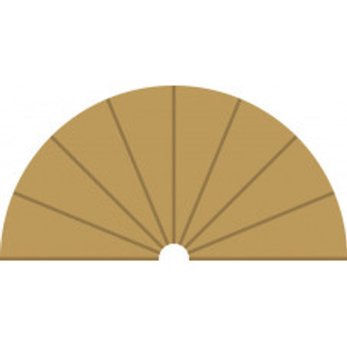 Radius 1 Curve Inner Borders 180 degree x 2.