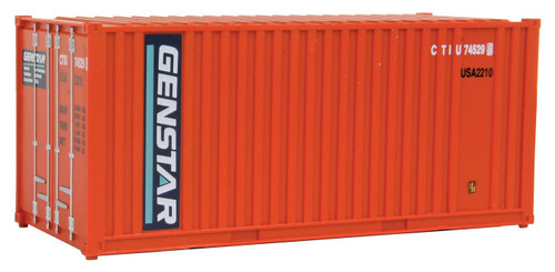 20' Corrugated Container with Flat Panel Genstar