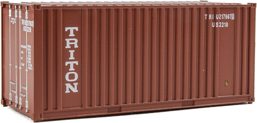20' Corrugated Container with Flat Panel - Triton