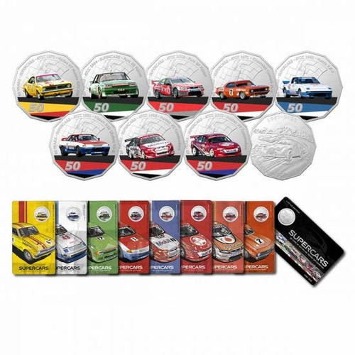 60 Years of Australian Supercars 2020 50c Uncirculated 9-Coin Collection