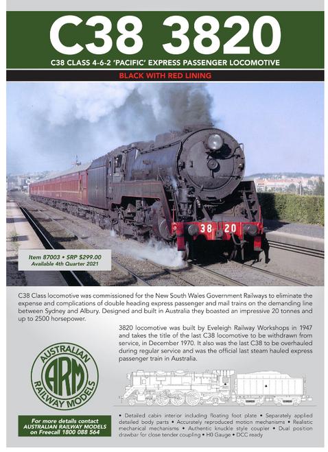 C3820 Class 4-6-2 Pacific Express Passenger Locomotive