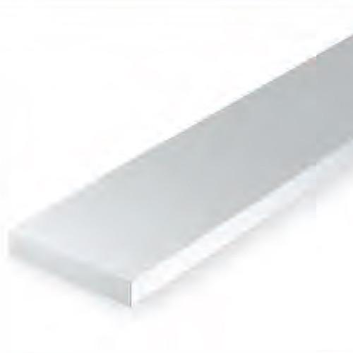 EVERGREEN WHITE STYRENE STRIP .125 X .250