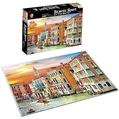 Scenic Spot Venice Canal House 500 Piece Puzzle