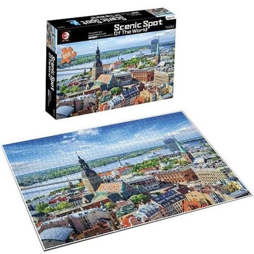 Scenic Spot Euro Town 500 Piece Puzzle