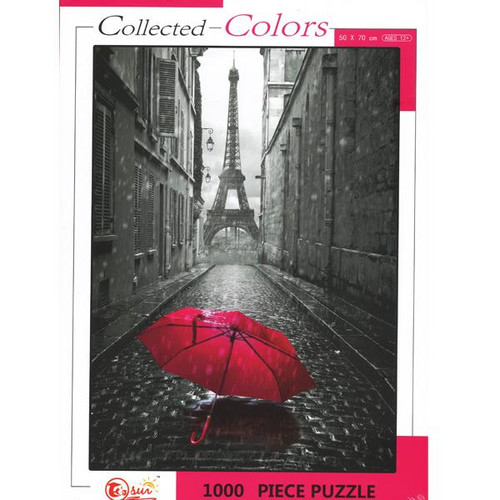 Eiffel Tower - Collected Colors  1000 Piece Puzzle