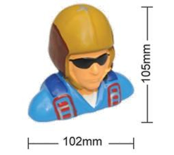 Painted 1/5 Scale Pilot Shoulder Bust With Helmet