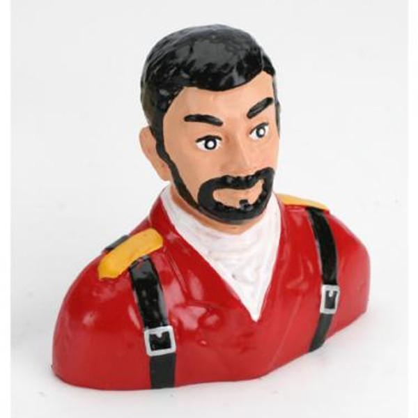 1/5 Pilot, Civilian with Beard (Red)