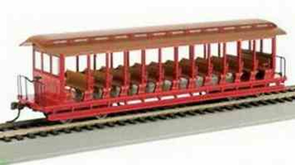 Jackson Sharp Open - Sided Excursion Car - Red and Brown