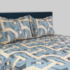 Backroads Slate Blue 3 pc Bedspread Set for Camper & RV