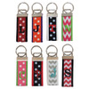 Chevron and Swiss Dots Monogrammed Key Chains