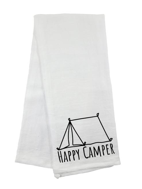 Happy Camper Flour Sack Towel