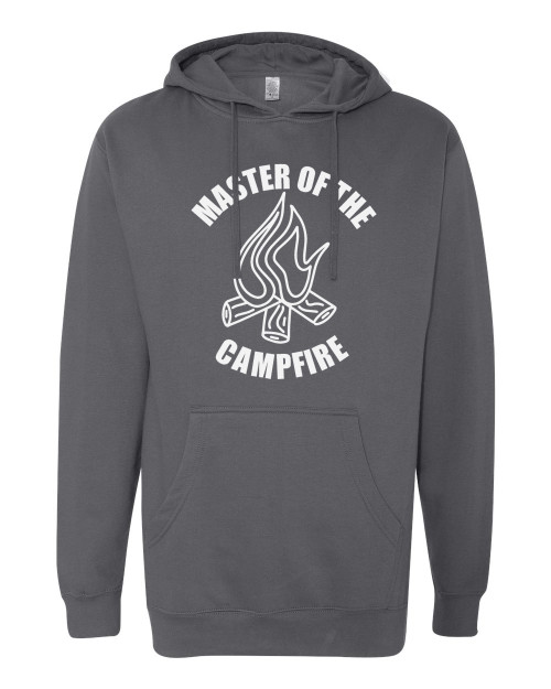 Master Of The Campfire Charcoal Men's Hoodie
