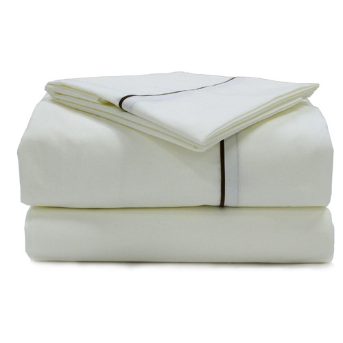 American Traveler Sheet Sets Bone with Colored Trim