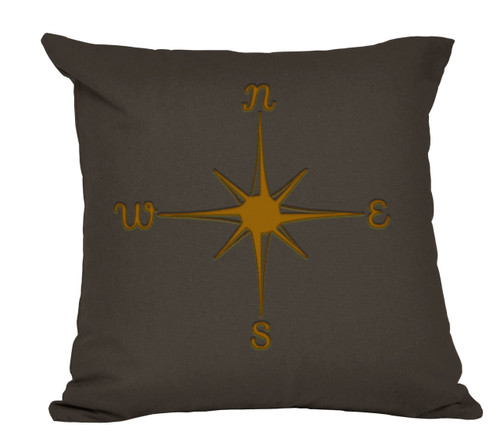 Compass Decorative Pillow