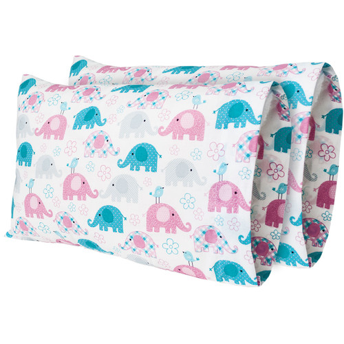 "12""x 18"" Trunks & Tweets Printed Travel Pillow Pillow Case (2-Pack)"