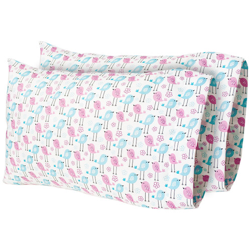 "12""x 18"" Tweeting Along - Printed Travel Pillow Case (2-Pack)"