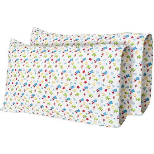 "12""x 18"" Tiny Travels - Printed Travel Pillow Case (2-Pack)"