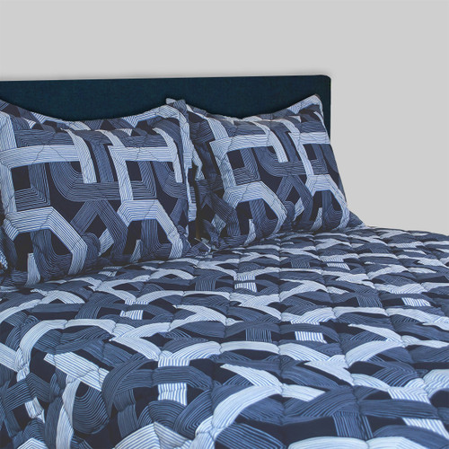 Backroads Navy 3 pc Bedspread Set for Airstream ®