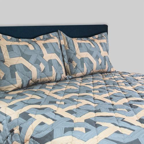 Backroads Slate Blue 3 pc Bedspread Set for Airstream ®