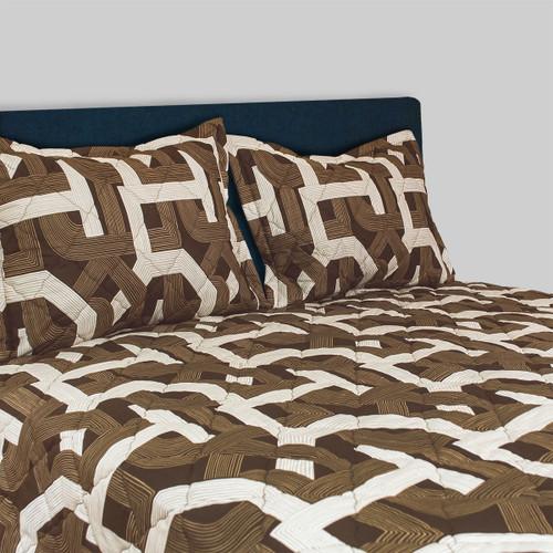 Backroads Brown 3 pc Bedspread Set for Camper & RV