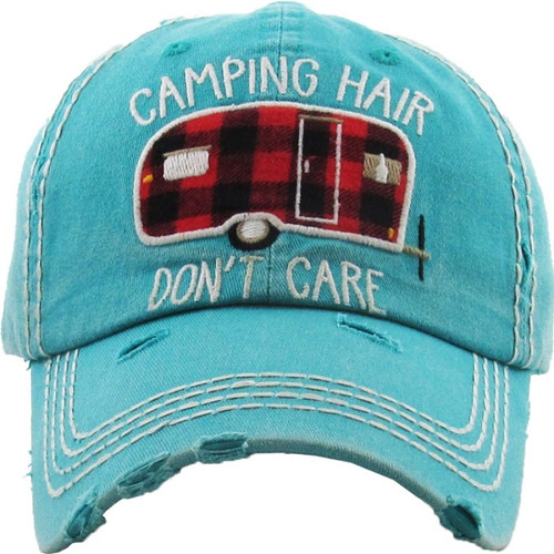 Camping Hair Don't Care Premium Cotton Cap