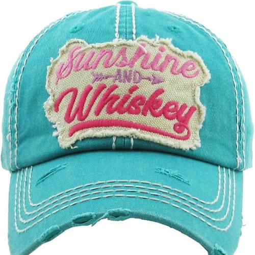 Sunshine And Whiskey Premium Cotton Cap
