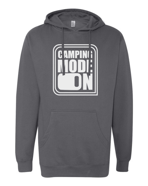 Camping Mode On Charcoal Men's Hoodie