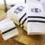 Monogrammed Charleston River Towel Set with Heirloom Ribbon Trim