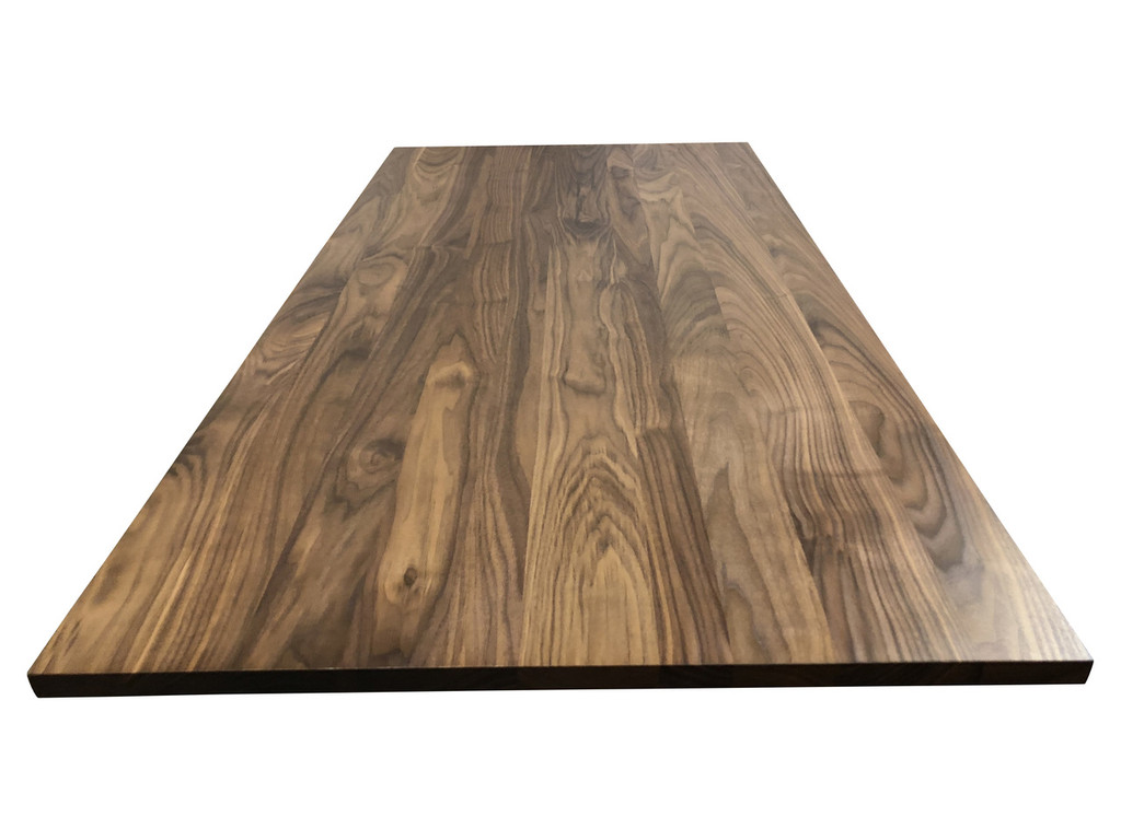 Wood Computer Desk Top in Walnut
