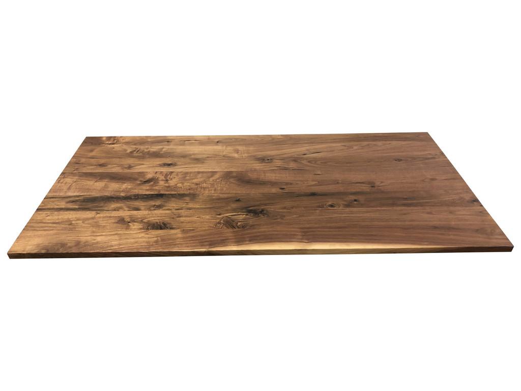 Knotty Walnut Wood Office Desk Top