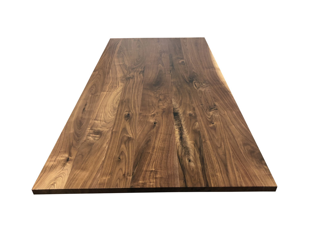 Build a Standing Desk with a Knotty Walnut Hardwood Desk Top