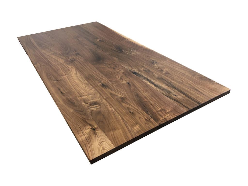 Solid Wood Desk Top in Knotty Walnut