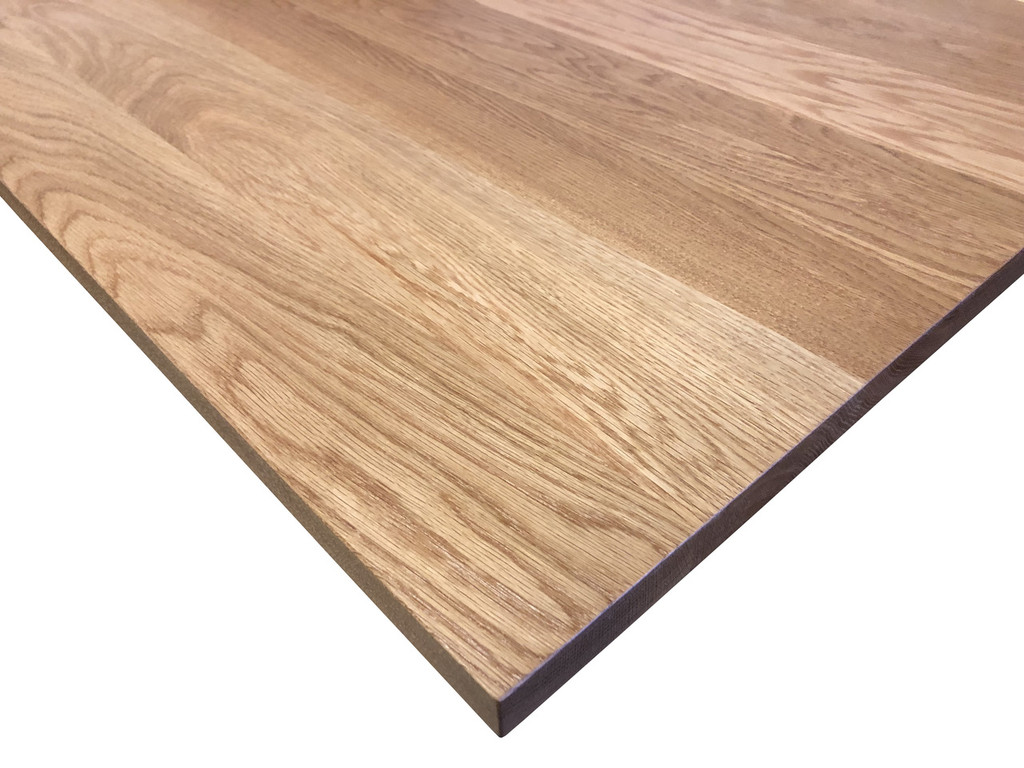 Wood Computer Desk Top in White Oak