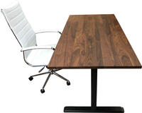 Walnut Desk Top with Frame and Chair
