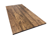 Build a Standing Desk with a Walnut Hardwood Desk Top