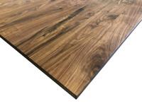 Wood Computer Desk Top in Knotty Walnut