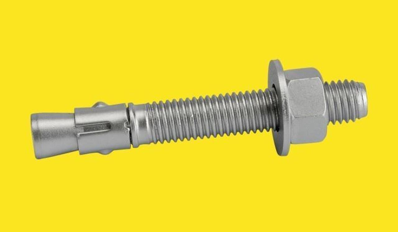 "Qty-25 Concrete Wedge Anchors Zinc Plated Masonry Anchors 3//4/""-10 x 4-3//4/"""