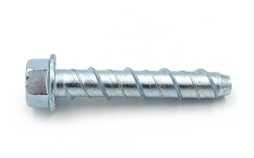"3/8"" x 4"" Large Diameter Concrete Screws Zinc Plated, 30/Box"