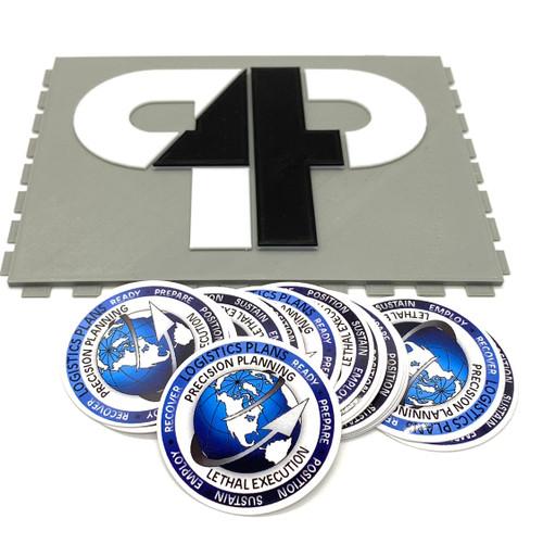 Log Plan round sticker pack of 5