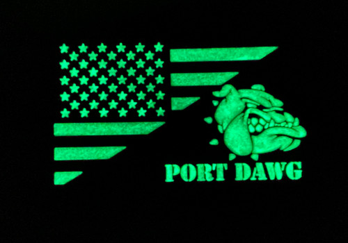 Port Dawg B&W Glow in the Dark