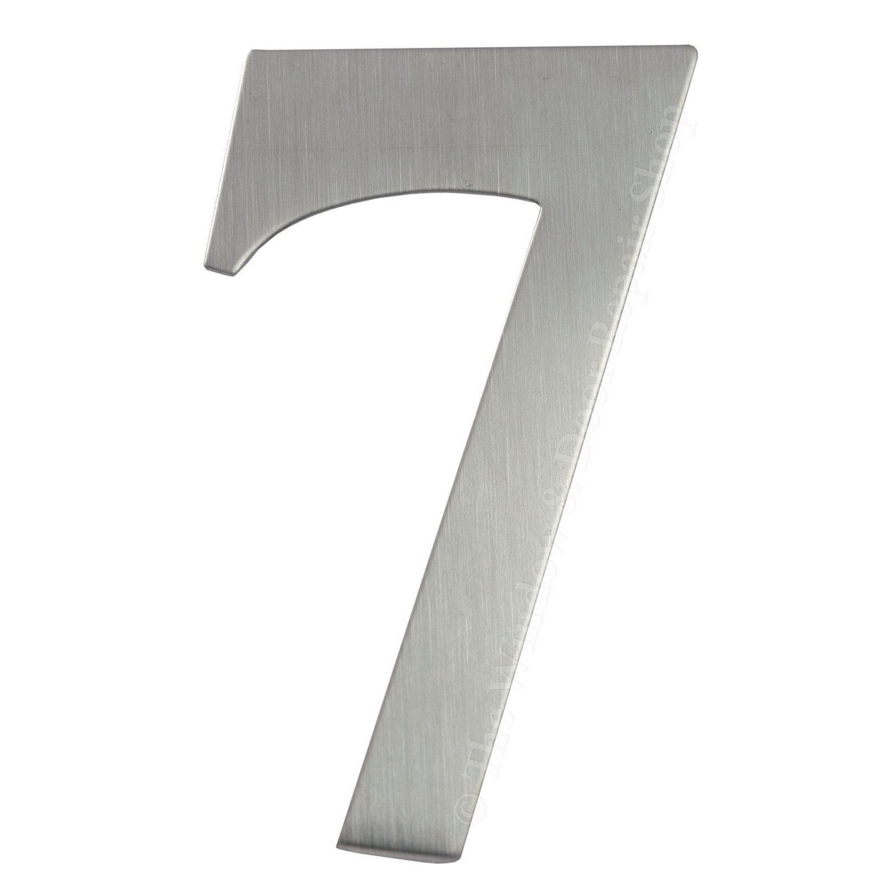 "3/"" inch 76mm Self Adhesive Brushed Satin Stainless Steel Door House Numbers UAP"