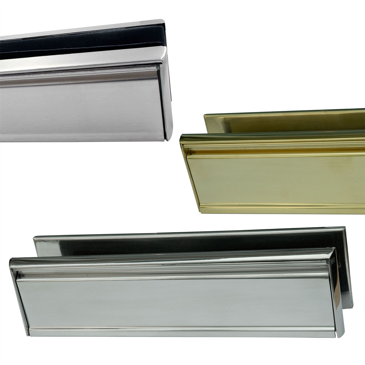 "12/"" Inch Letter Box Plate Set Stainless Steel 40//80 uPVC Double Glazing Door UAP"