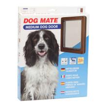 Dog Mate Dog Flap Pet Door Brown 215 215B